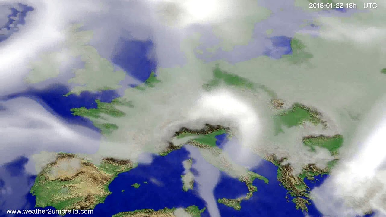 Cloud forecast Europe 2018-01-19