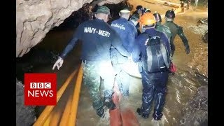 Video Thailand cave rescue: New Footage released - BBC News MP3, 3GP, MP4, WEBM, AVI, FLV Oktober 2018