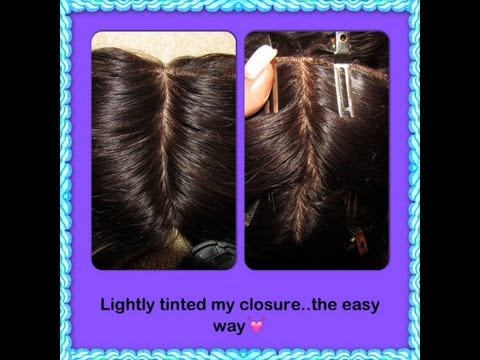 ♥How to tint a closure..using tea!!!♥