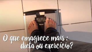 O que emagrece mais: dieta ou exercício?