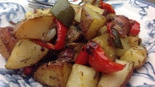 Eric's Roasted Red Potatoes with Bell Pepper and Onion is a great side dish for any meal. It is a great alternative to fried potatoes or hash browns. This recipe is ...