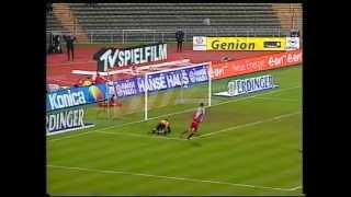 Carsten Janckers Tor gegen Bayer Leverkusen