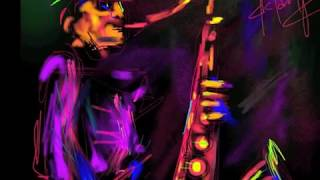 "Time lapse art by DC Langer, ""Sax Man"""