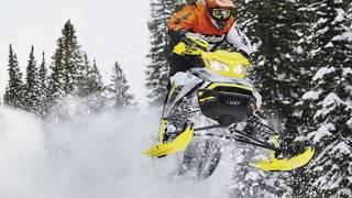1. 2018 Ski Doo MXZ® X RS® Ice Ripper XT 1 25 Adj Pkg  Rotax® 850 E TEC® Hyper Silver & Sunburst Yellow