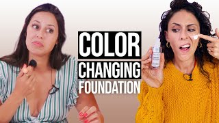 Color Changing Foundation - Does It Work?! (Beauty Break) by Clevver Style