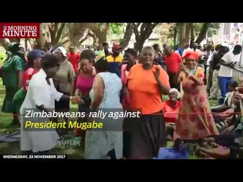 Zimbabweans called for President Robert Mugabe to step down at a rally in central Harare on Tuesday