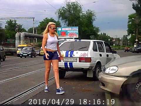 Авария с автоледи