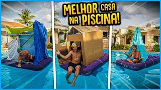 QUEM FAZ A MELHOR CASA NA PISCINA COM COISAS DA CASA!! [ REZENDE EVIL ]