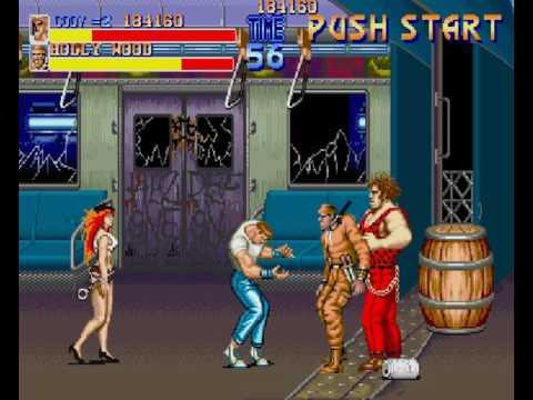 Sharp X68000 Game: Final Fight (1992 Capcom)