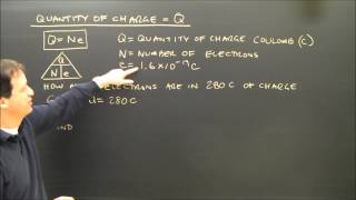 Simple Electricity Calculations Charge And Current Q=Ne Part 2