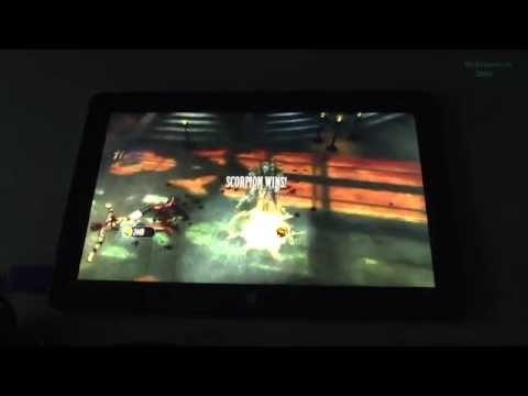 1# Mortal Kombat test on tablet Intel Core M-5Y71 new Dell Venue 11 Pro 7140 - high details