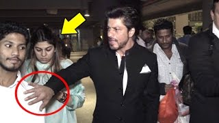 Video ANGRY Shahrukh Khan Pushes Away A FAN To Save A Lady At Airport MP3, 3GP, MP4, WEBM, AVI, FLV Juli 2018