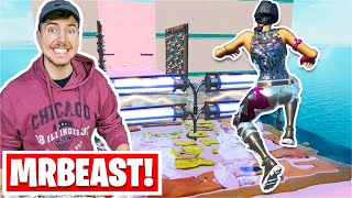 I played the MrBeast UNIQUE Deathrun... *CRAZY* (Fortnite Creative)