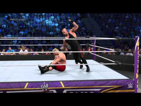WWE 2K15 PS4 Undertaker Vs Brock Lesnar
