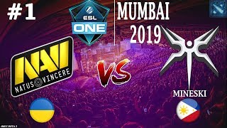 НАВИ БЬЮТСЯ за ФИНАЛ! | Na`Vi vs Mineski #1 (BO3) | ESL One Mumbai 2019
