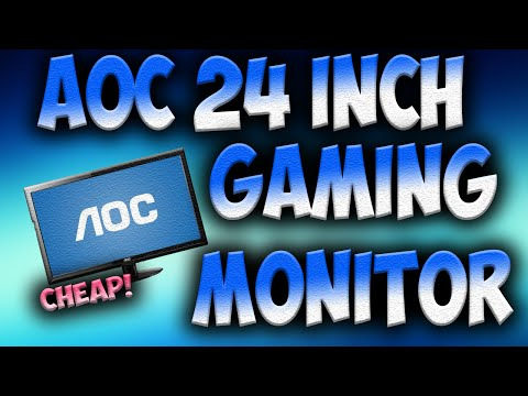 CHEAP GAMING MONITOR! - AOC E2429SWHE 24 inch Gaming Monitor Unboxing and Review - AP Tech
