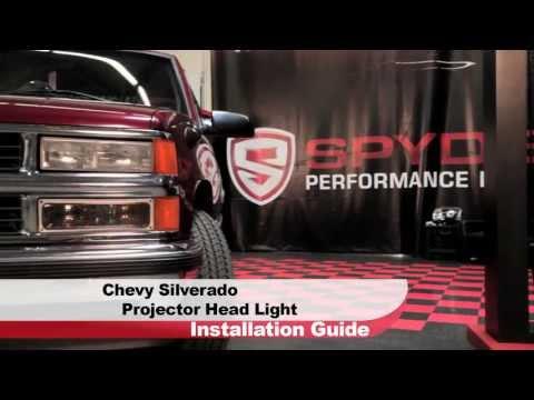 Spyder Auto Installation: 1988-98 Chervolet Silverado/GMC Sierra Projector Head Light