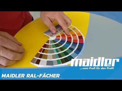 Maidler RAL-Fächer: Alle RAL-Classic Farbtöne in einem Fächer zusammengefasst