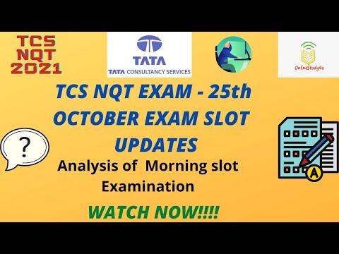 TCS nqt 2021 25th october exam analysis   Morning Shift