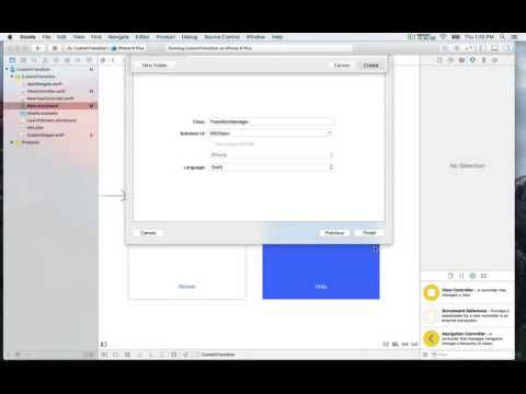 IOS Animation With Swift Transition Manager Class…