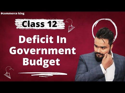 Government budget   Revenue deficit   Fiscal deficit   primary deficit   class12   Video 31
