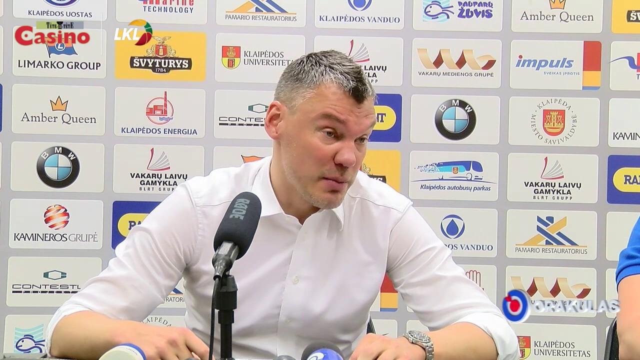 """Š. Jasikevičius: """"Kova dėl kamuolių ir gynyba buvo fantastinė"""""""