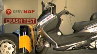 Crash test SYM GTS 125 EVO
