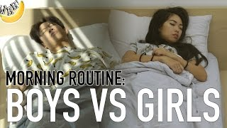 Video Morning Routine: Boys vs Girls MP3, 3GP, MP4, WEBM, AVI, FLV Juli 2018