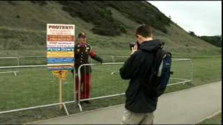 Scottish republican socialist Peter Dow, author and protester