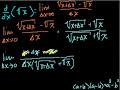 Proof: d/dx(sqrt(x)) Video Tutorial