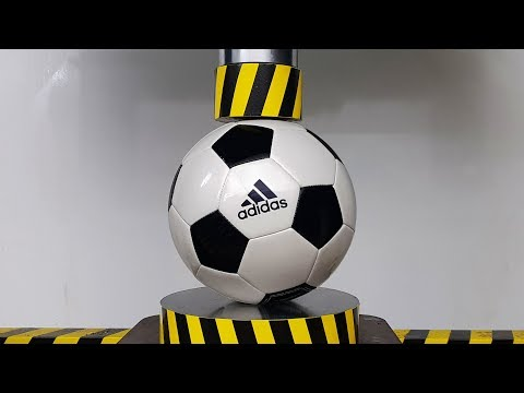 EXPERIMENT HYDRAULIC PRESS 100 TON Vs SOCCER BALL