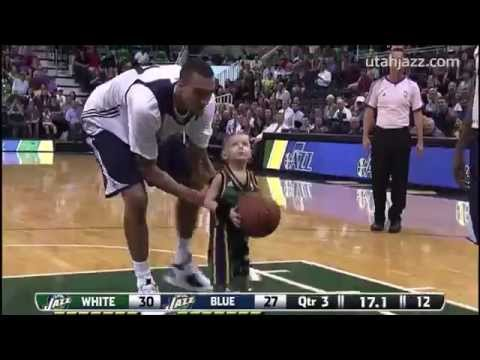 5-Year-Old with Leukaemia Plays for the Utah Jazz #PinkBig