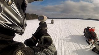 8. 3 Different Ski-Doo 800's running 1000' on the Radar Gun