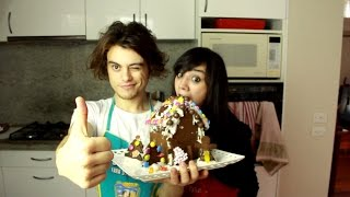 BEST GINGERBREAD HOUSE EVR | Cooking with Damien and Kimmi