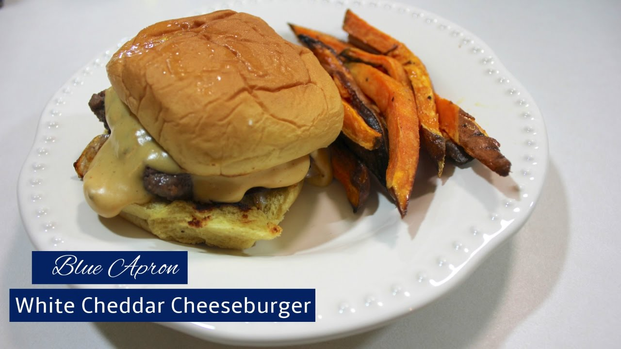 Blue apron top chef contest - White Cheddar Cheeseburgers Blue Apron Cooking And Review Blueapron Whitecheddarcheeseburgerswithroastedsweetpotatowedges