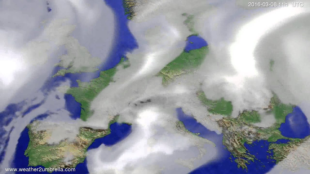 Cloud forecast Europe 2016-03-05