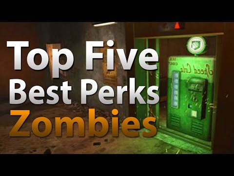 Perks - 'TOP 5' Perks in Call of Duty 'Zombies' - Black Ops 2 'BO2' Black Ops & WAW Zombies (COD) Twitter: https://twitter.com/TheSmithPlays Instagram: http://instag...