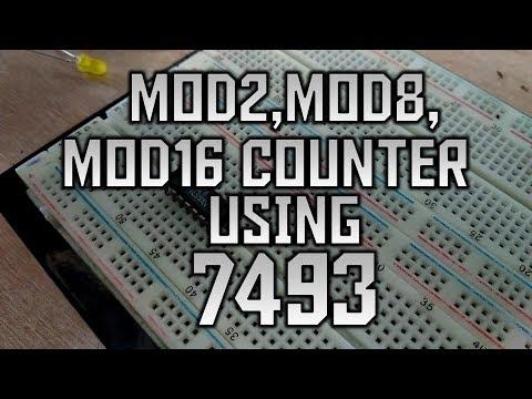 MOD-2, MOD-8 & MOD-16 Counter using 7493