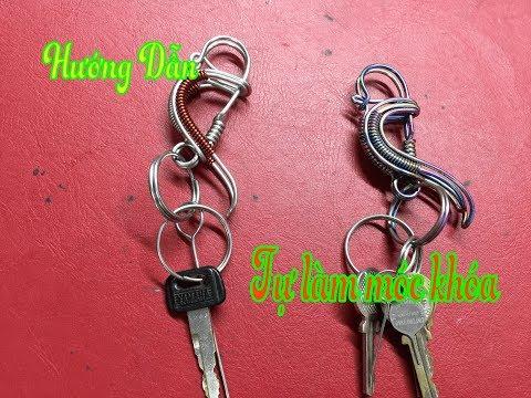 Hướng dẫn tự làm móc treo chìa khóa băng dây kẽm