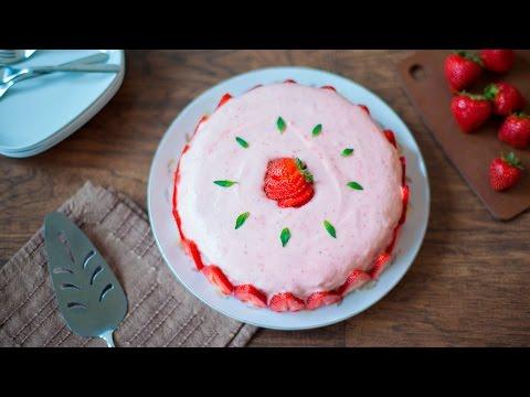 cheesecake al basilico e mousse di fragole - ricetta