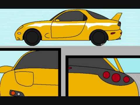 Street race cartoon