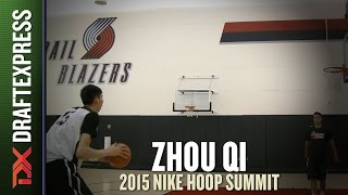 Zhou Qi - 2015 Nike Hoop Summit - Shooting Drills