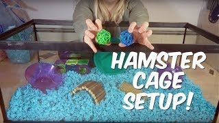 HOW TO SET UP A HAMSTER CAGE! by Emma Lynne Sampson