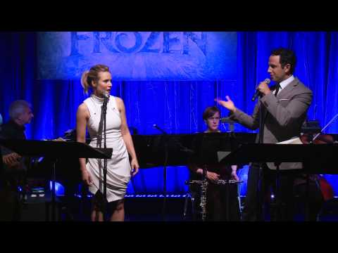 door - Frozen stars Kristen Bell and Santino Fontana perform