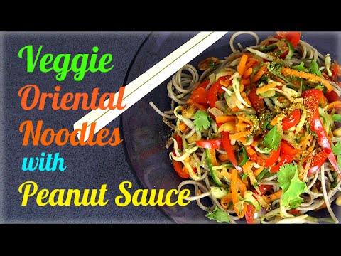veggie - 1st November is World Vegan Day! Let's celebrate the month by making one of my favourite Vegan Asian dishes, Veggie Oriental Noodles with Peanut Sauce. This recipe is extremely simple, quick...