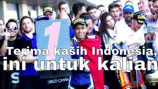 9. Galang Hendra Juara WSSP 300 Jerez 2017 Yamaha YZF-R3 Pembalap Indonesia Pertama