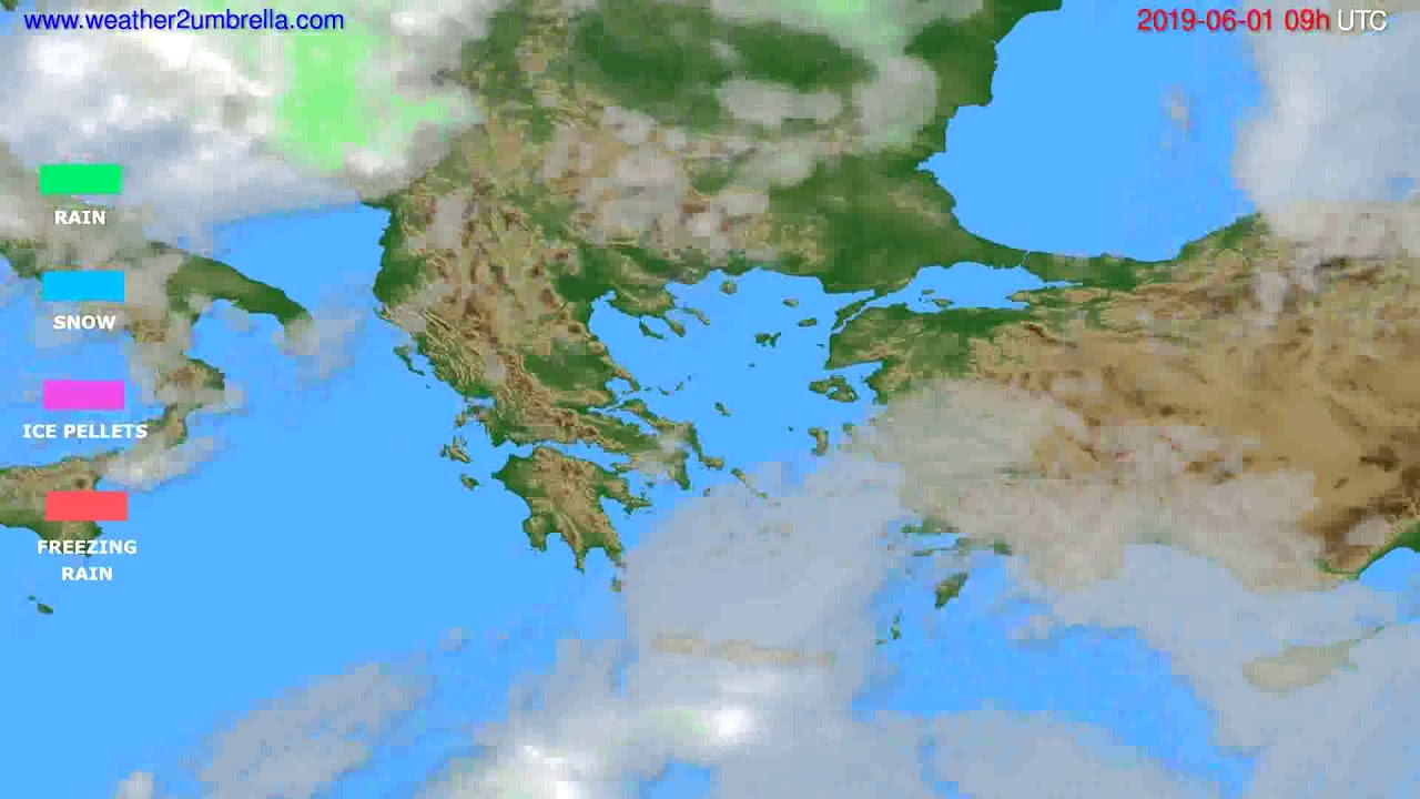 Precipitation forecast Greece // modelrun: 12h UTC 2019-05-30