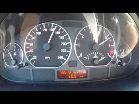 ACCELERATION 0-190 KM/H 2002 BMW 318i/E46 105 KW (143 PS)