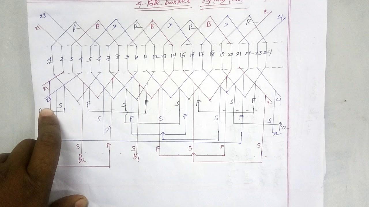 Three Phase Motor 4 Pole Basket Rewinding Diagram  How To