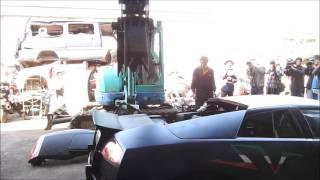 Власти Тайваня разорвали на части нелегальный Lamborghini Murcielago